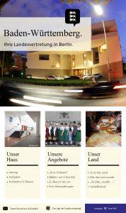 Livetouch Startseite, Landesvertretung Baden-Württemberg