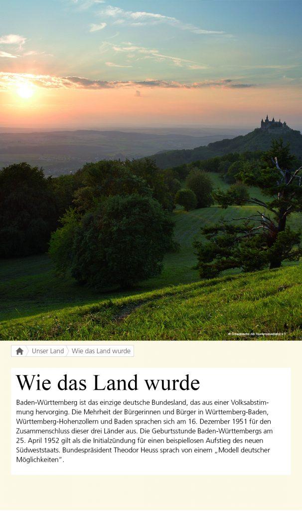 """Livetouch """"Wie das Land wurde"""", Landesvertretung Baden-Württemberg"""
