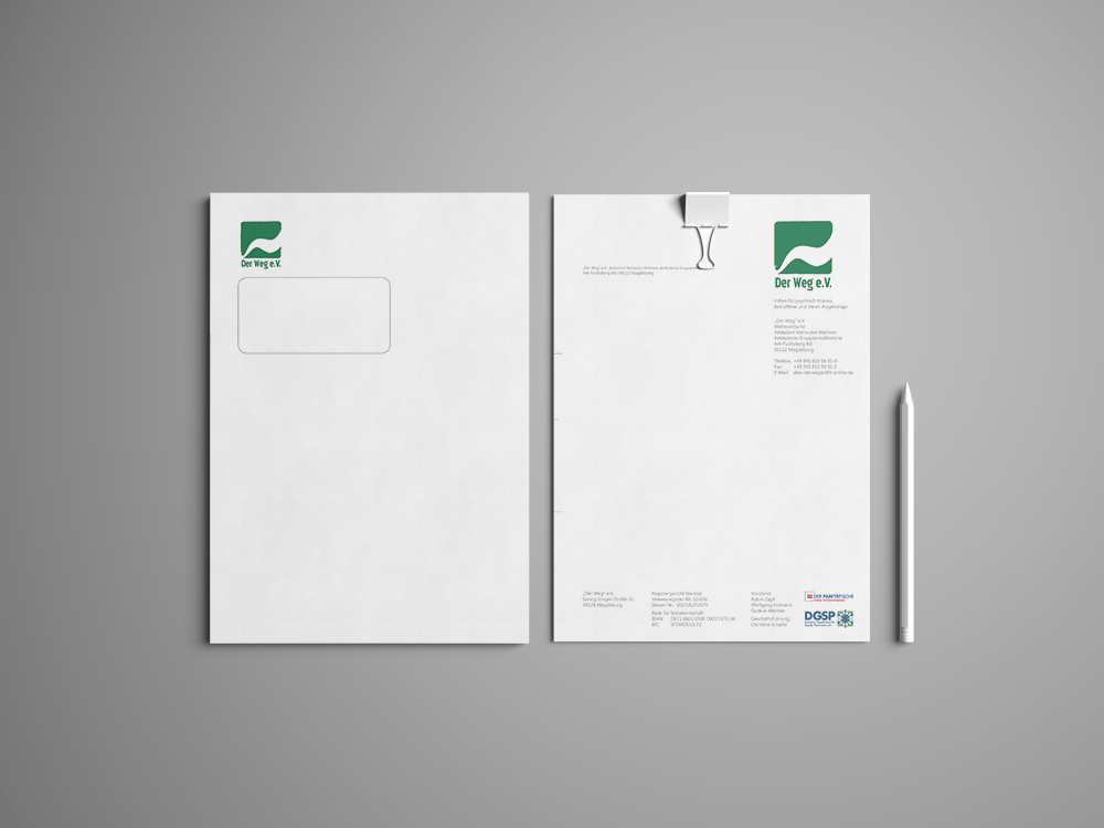 """Briefpapier/Umschlag """"Der Weg"""" e.V."""