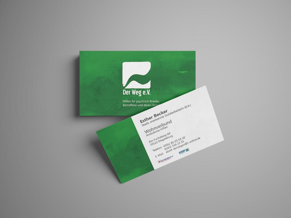 """Visitenkarten """"Der Weg"""" e.V."""