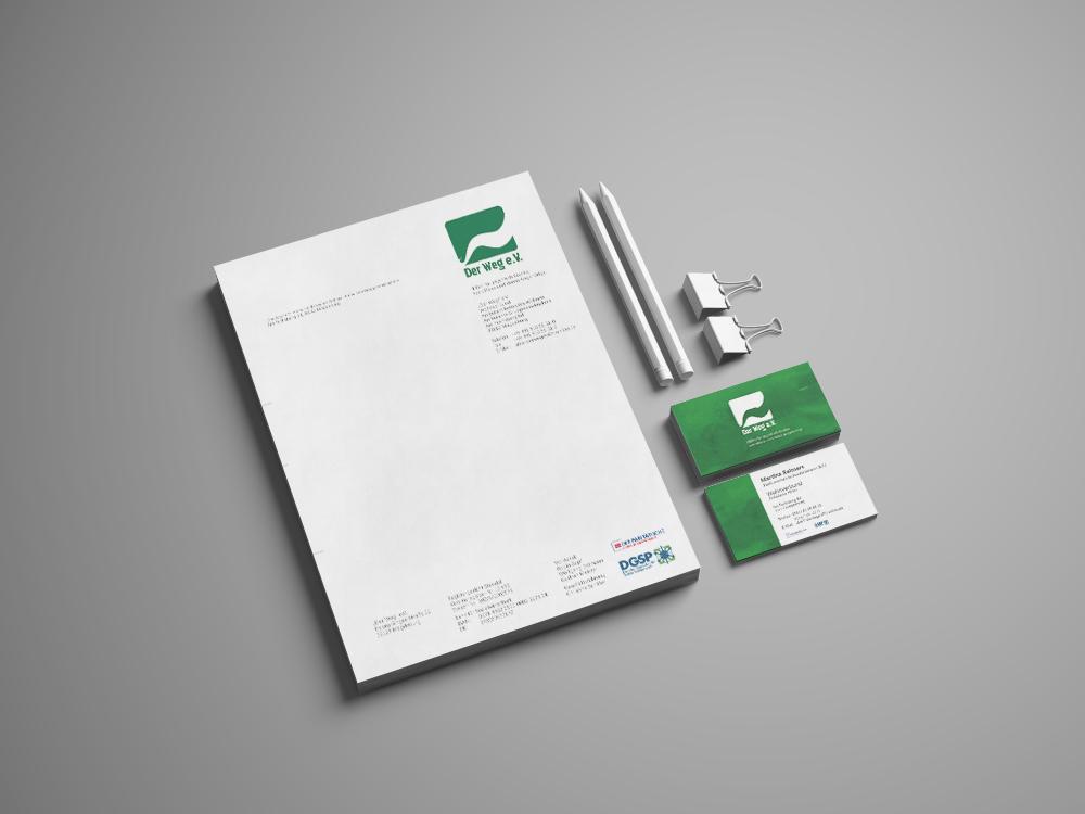 "Briefpapier/Visitenkarten ""Der Weg"" e.V."
