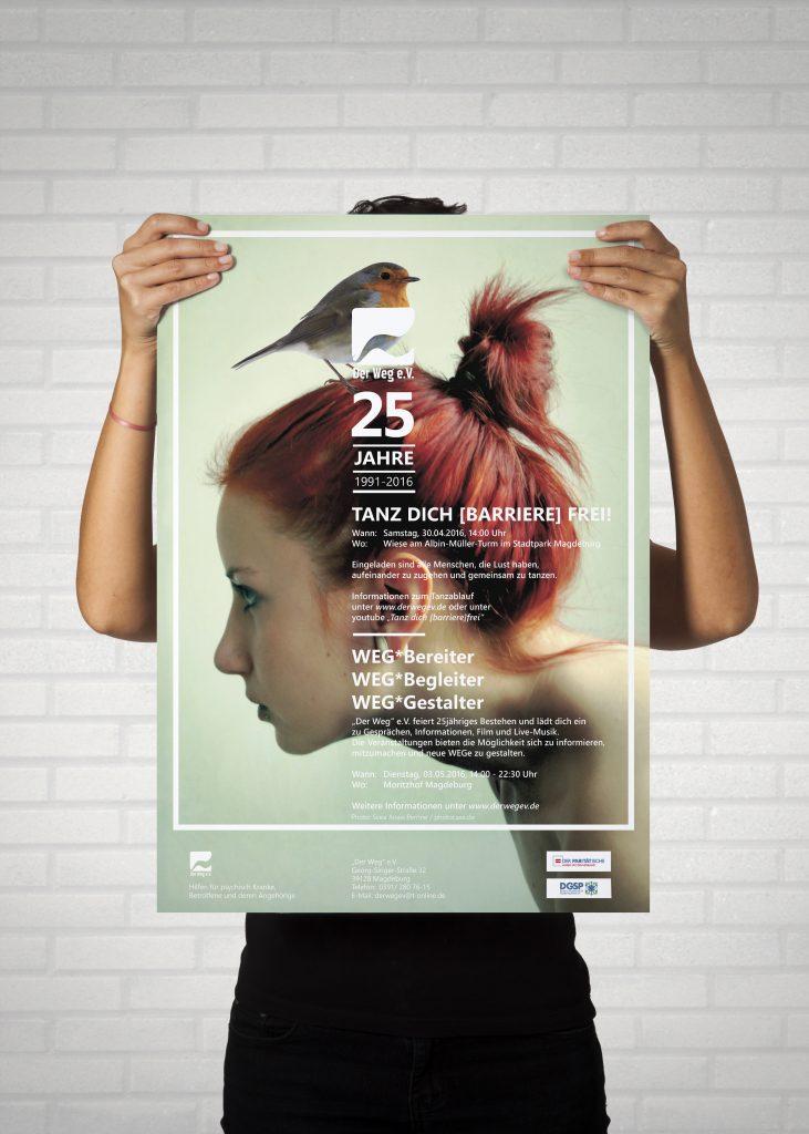 """Plakat zum 25. Jubiläum """"Der Weg"""" e.V."""
